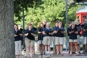 Singing with the Plano Community Band - July 2012