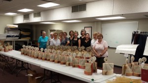 Making Hymnal Angels on August 20, 2014.