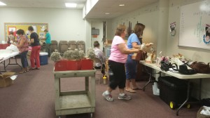 Making Hymnal Angels on August 27, 2014.