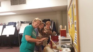 Thelma, Gennie, and Janet working the glue guns! 08/27/2014