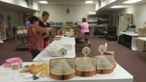 Making Hymnal Angels and Music Ornaments on August 27, 2014.